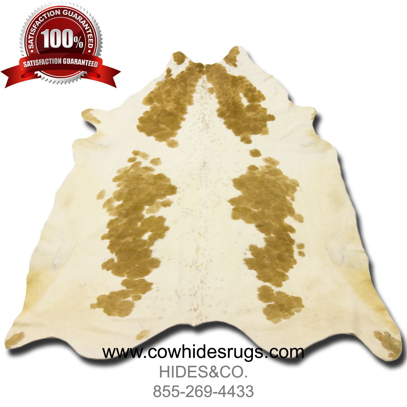 golden brown with white cowhide chhbbrw16