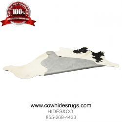 White Cowhide with Black Spots