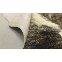 Black on Yellowish White Brindle Cowhide