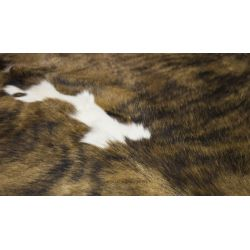 Brindle Brown White Cowhide CH-PTBBW37