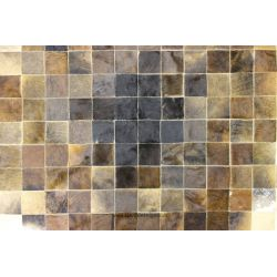 Brown Mosaic Cowhide Rug