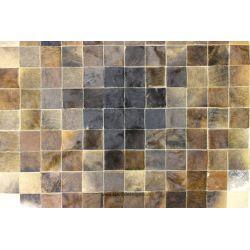 Brown Mosaic Cowhide Rug