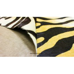 Light Brown Zebra Cowhide