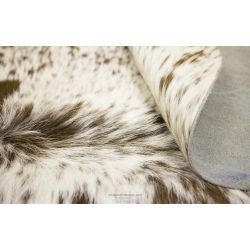 Cream and Brown Spots Cowhide