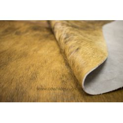 Brown Brindle Cowhide with White Sides