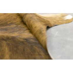 Brown and White with Black Shades Brindle Cowhide