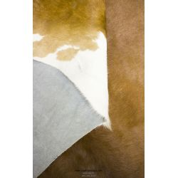 Iridescent Brown and White Cowhide Rug