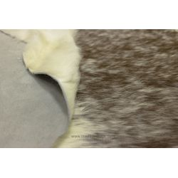 Taupe Brown and White Sides Cowhide CH-EEBRW15