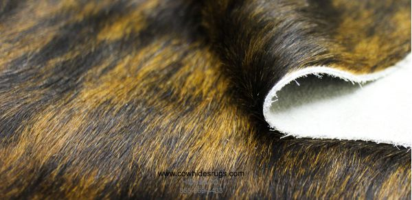 Exotic Black, Brown and White Cowhide