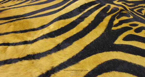 Camel Color Zebra Cowhide