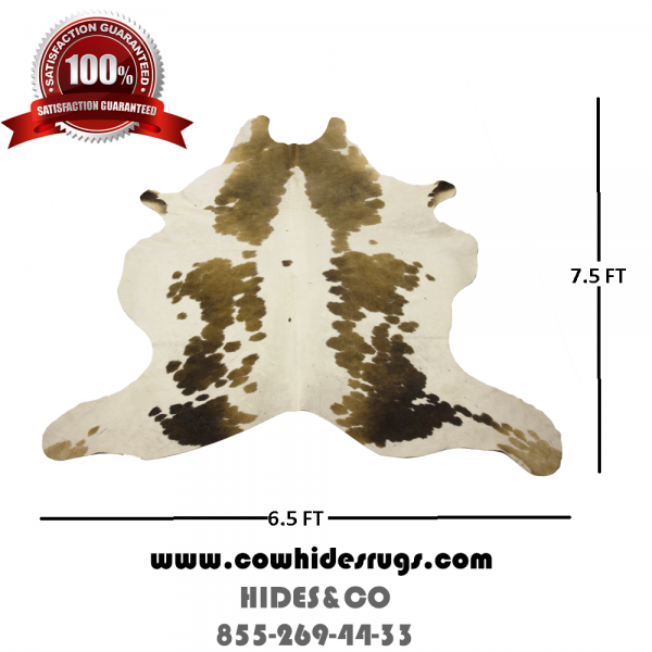 White and Brown Cowhide