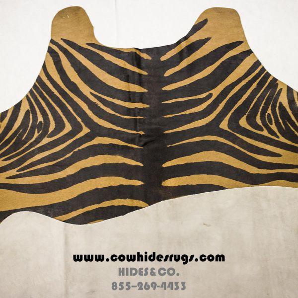 Camel Zebra Cowhide