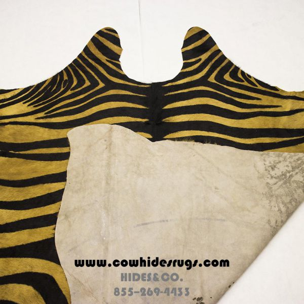 Light Camel Color Zebra Cowhide