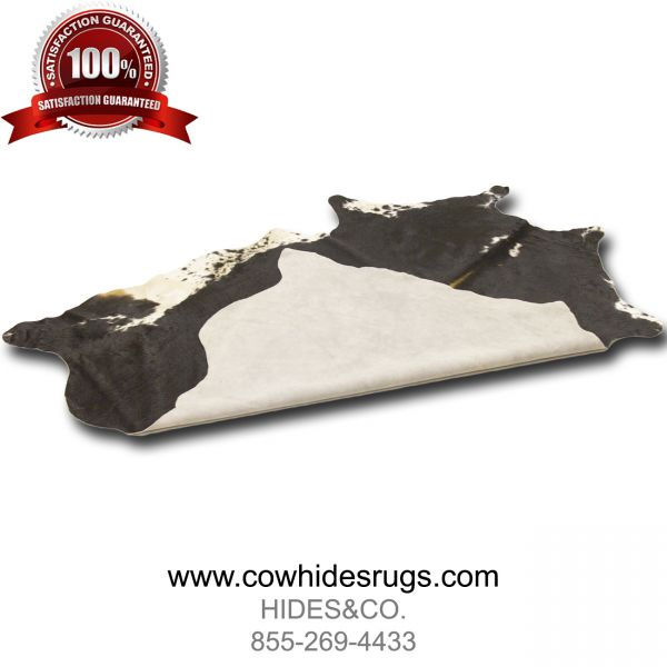 Black Cowhide with White Sides