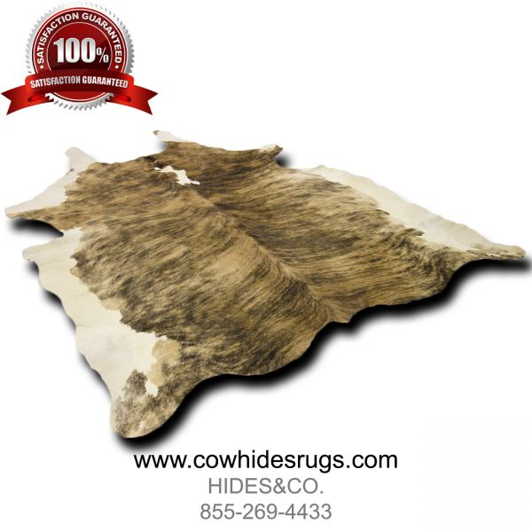 Brindle Brown White Cowhide CH-PTBBW37