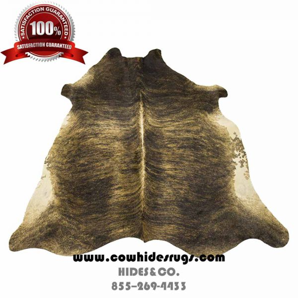 Brown, White and Black Brindle Cowhide CH-PTBBW11