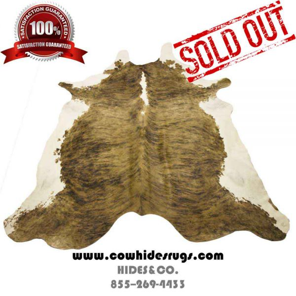 Cream Brown Brindle Cowhide CH-HTBBW13