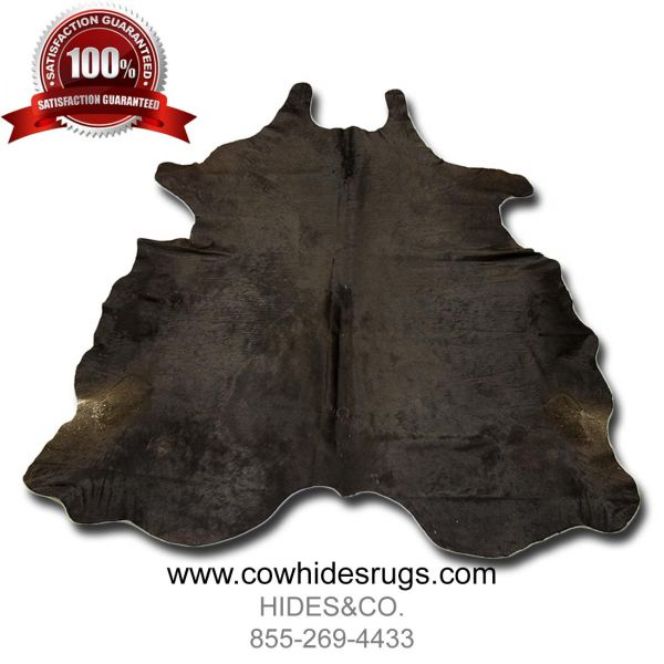 Silken Dark Brown Tri-Color Cowhide